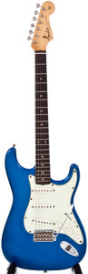 Musical Instruments:Electric Guitars, 1962 Fender Stratocaster Refinished Metallic Blue Solid BodyElectric Guitar, #79322....