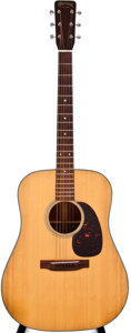 Musical Instruments:Acoustic Guitars, 1965 Martin D-18 Natural Acoustic Guitar, #199719....