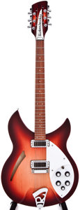 Musical Instruments:Acoustic Guitars, 1998 Rickenbacker 330-12 Fireglo Semi-Hollow Body Electric Guitar,#M19695....