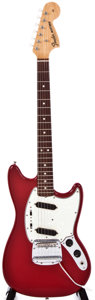 Musical Instruments:Acoustic Guitars, 1966 Fender Mustang Dakota Red Solid Body Electric Guitar, #156293....