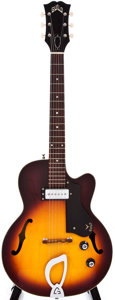 Musical Instruments:Electric Guitars, 1963 Guild M-65 3/4 Sunburst Archtop Electric Guitar, #28858....