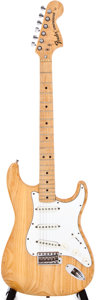Musical Instruments:Acoustic Guitars, 1974 Fender Stratocaster Natural Solid Body Electric Guitar,#525535....