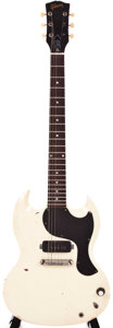 Musical Instruments:Electric Guitars, 1965 Gibson SG Junior White Electric Guitar, #230477....
