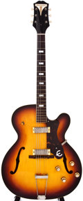 Musical Instruments:Electric Guitars, 1960 Epiphone E312 Zephyr Sunburst Hollow Body Guitar, #A3259....
