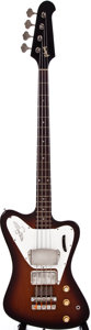 Musical Instruments:Bass Guitars, 1965 Gibson Thunderbird Sunburst Electric Bass Guitar, #507356....