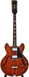 Musical Instruments:Acoustic Guitars, 1966 Gibson ES335-12 Cherry Electric Guitar, #863881....