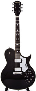 Musical Instruments:Electric Guitars, 1978 Gretsch 7681- Super Axe Black Semi-Hollow Body ElectricGuitar, #4-8059....