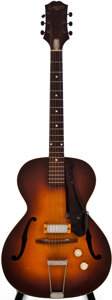Musical Instruments:Electric Guitars, 1953 Epiphone Kent Sunburst Archtop Electric Guitar, #65658....