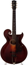 Musical Instruments:Acoustic Guitars, 1919 Gibson Style 0 Artist Sunburst Acoustic Guitar, #49177....