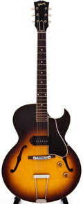Musical Instruments:Electric Guitars, 1958 Gibson ES225-T Sunburst Hollow Body Guitar, #696734....