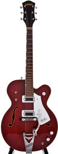 Musical Instruments:Electric Guitars, 1973 Gretsch Tennessean Burgundy Semi-Hollow Body Electric Guitar, #63046....