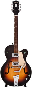 Musical Instruments:Electric Guitars, Gretsch 1990s Reissue Sunburst Semi-Hollow Body Electric Guitar,#24010....