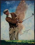 Golf Collectibles:Autographs, Ben Hogan Signed Magazine Print....