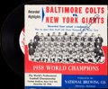 Football Collectibles:Others, Johnny Unitas Signed Record....