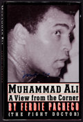 Boxing Collectibles:Autographs, Muhammad Ali Signed Hardcover Book....