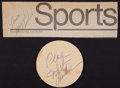 Basketball Collectibles:Others, Wilt Chamberlain Signed Memorabilia Lot of 2....