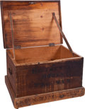 Military & Patriotic:Civil War, 3rd Mass. Vol. Inf. Wood Storage Box Constructed in New Berne N. C. in 1862. ...