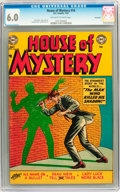 Golden Age (1938-1955):Horror, House of Mystery #16 Savannah pedigree (DC, 1953) CGC FN 6.0Off-white to white pages....