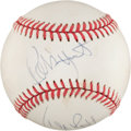 Autographs:Bats, George Brett and Robin Yount Multi Signed Baseball....
