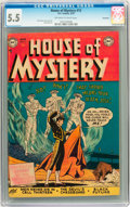 Golden Age (1938-1955):Horror, House of Mystery #12 Savannah pedigree (DC, 1953) CGC FN- 5.5Off-white to white pages....