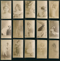 "Non-Sport Cards:Lots, 1880's N245 Sweet Caporal ""Actors and Actresses"" Collection (15)...."