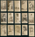 """Non-Sport Cards:Lots, 1880's N245 Virginia Brights """"Actors and Actresses"""" Collection (15). ..."""