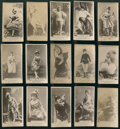 Non-Sport Cards:Lots, 1880's N145 Duke's Cameo Cigarettes Actors and Actresses Collection(15) - All Serif Font Style Format....