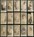 Non-Sport Cards:Lots, 1880's N145 Duke's Cameo Cigarettes Actors and Actresses Collection(15) - All San-Serif Font Style Format. ...