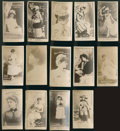 Non-Sport Cards:Lots, 1880's N145 Duke Cameo Cigarettes Actors and Actresses Collection(14) - All Copy In Image Area Format. ...