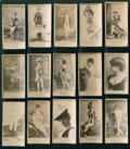 Non-Sport Cards:Lots, 1880's N145 Cross-Cut Cigarettes Actors and Actresses Collection (15) - All Serif Font Style Format. ...