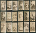 "Non-Sport Cards:Lots, 1880's N145 Cross Cut Actors and Actresses Collection (18) - All ""Cross Cut Are the Best"" Advertising...."