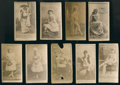 Non-Sport Cards:Lots, 1880's N145 Cross Cut Actors and Actresses Collection (9) - All Cross Cut, Name at Bottom Style. ...
