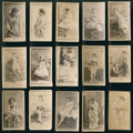 Non-Sport Cards:Lots, 1880's N145 Actors and Actresses Collection (15) - All Cross Cut,Name In Image Style. ...