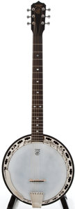 Musical Instruments:Banjos, Mandolins, & Ukes, 2008 Deering Deluxe Six Brown Stain 6-String Banjo,#08281205F659....