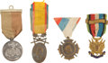 Military & Patriotic:Foreign Wars, Four European Medals and Decorations,...