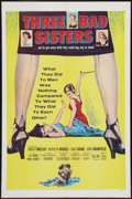 "Movie Posters:Bad Girl, Three Bad Sisters (United Artists, 1956). One Sheet (27"" X 41"").Bad Girl.. ..."