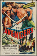 "Movie Posters:Adventure, The Avengers (Republic, 1949). One Sheet (27"" X 41""). Adventure....."
