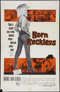 """Movie Posters:Bad Girl, Born Reckless (Warner Brothers, 1959). One Sheet (27"""" X 41""""). BadGirl.. ..."""