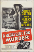 "Movie Posters:Crime, A Blueprint for Murder (20th Century Fox, 1953). One Sheet (27"" X 41""). Crime.. ..."