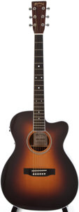 Musical Instruments:Acoustic Guitars, 2010 Martin 000C-16RGTE AURA Sunburst Acoustic Electric Guitar, #1419219....