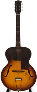 Musical Instruments:Acoustic Guitars, 1958 Gibson 125 Sunburst Archtop Electric Guitar, #T4115....