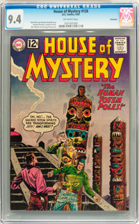 House of Mystery #126 Savannah pedigree (DC, 1962) CGC NM 9.4 Off-white pages