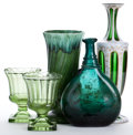 Movie/TV Memorabilia:Memorabilia, Five Pieces of Green Glass/Earthenware, 1960s.... (Total: 5 )