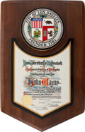 Movie/TV Memorabilia:Memorabilia, An Award, 1970....