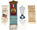 Military & Patriotic:Civil War, Group of Scarce, Fine Condition, GAR Ribbons from Gettysburg Related Regiments....