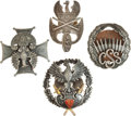 Military & Patriotic:Foreign Wars, Poland Four Military Badges... (Total: 4 Items)
