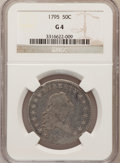 Early Half Dollars: , 1795 50C 2 Leaves Good 4 NGC. NGC Census: (28/804). PCGS Population(44/1278). Mintage: 299,680. Numismedia Wsl. Price for ...