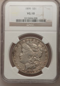 Morgan Dollars: , 1899 $1 VG10 NGC. NGC Census: (6/7217). PCGS Population (9/9952).Mintage: 330,846. Numismedia Wsl. Price for problem free ...