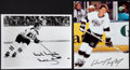 Hockey Collectibles:Photos, Wayne Gretzky and Bobby Orr Signed Photographs Lot of 2....