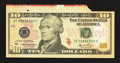 Error Notes:Foldovers, Fr. 2040-F $10 2006 Federal Reserve Note. Choice AboutUncirculated.. ...